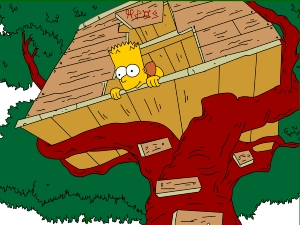 Bart Simpson's Treehouse | A Treehouse Holiday Destination You Might Think Twice About