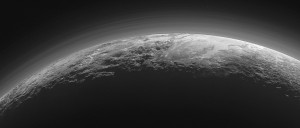 Several layers of atmospheric haze from Pluto near our luxury camping UK abodes