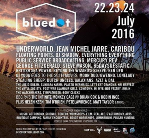 The line-up for bluedot Festival in Cheshire 2016