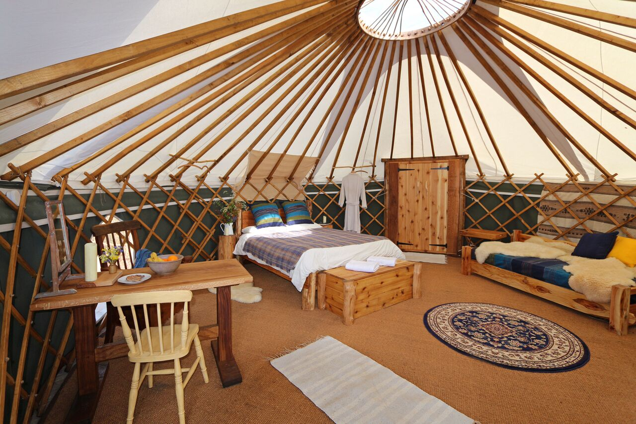 Discover Gorse Yurt And Its Wales Glamping Delectable Delights