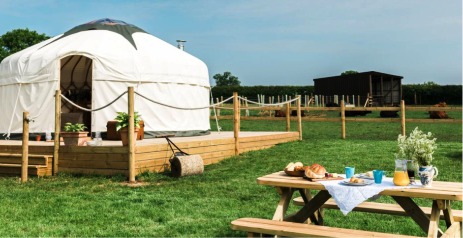 "One of our yurt holiday abodes ""Jubilee Yurt"" in the Midlands"