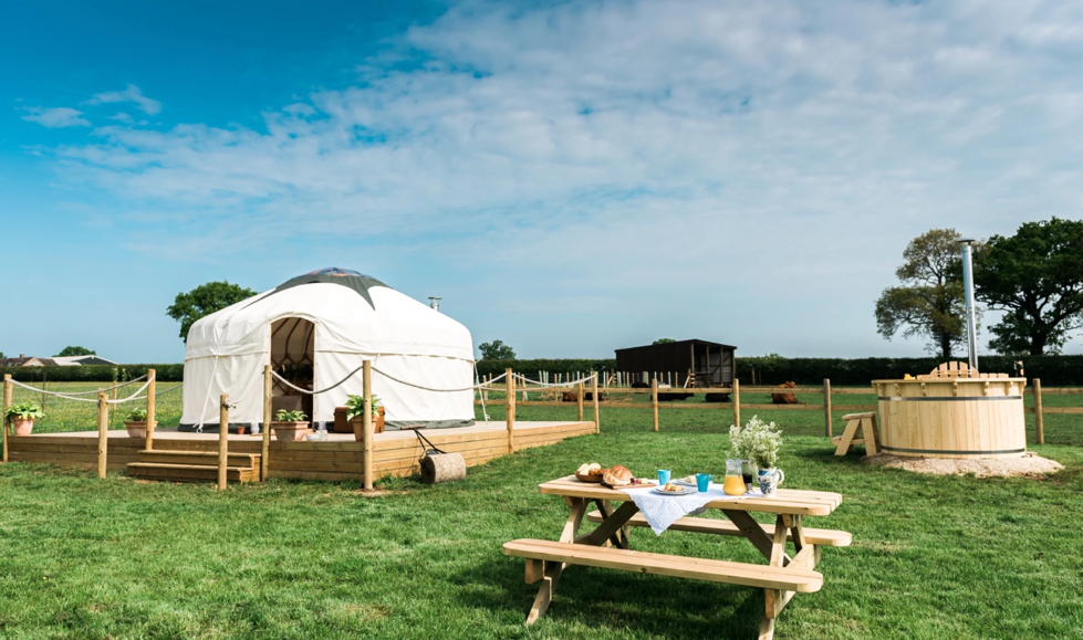 Jubilee yurt glamping holidays with a hot tub