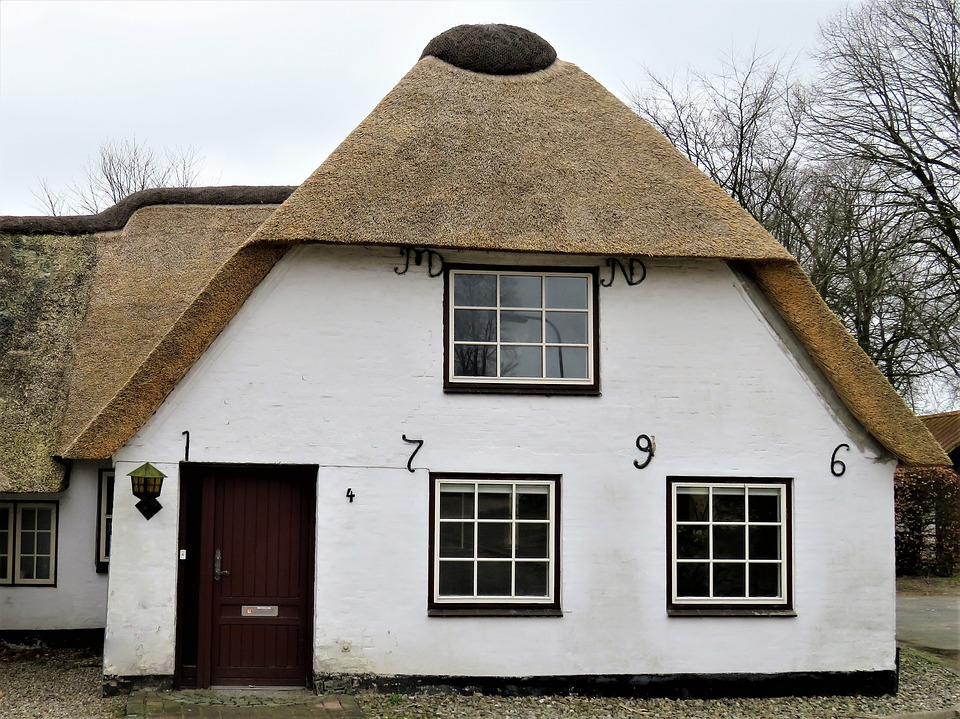 A Danish-style thatched house